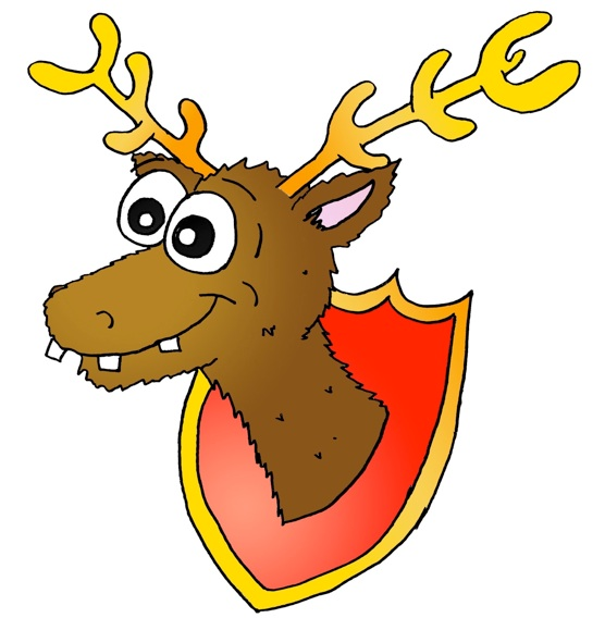 556x568 Stag Clipart