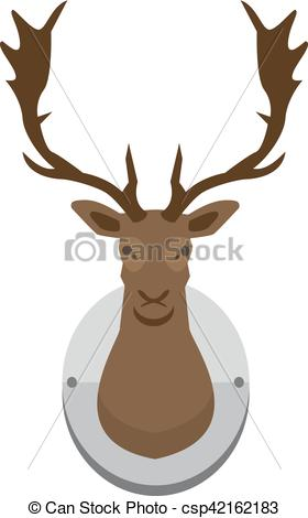 280x470 Vector Mounted Deer Head. Deer Hed Mounted To Wall, Vector