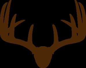 297x237 Brown Deer Skull Mount Clip Art