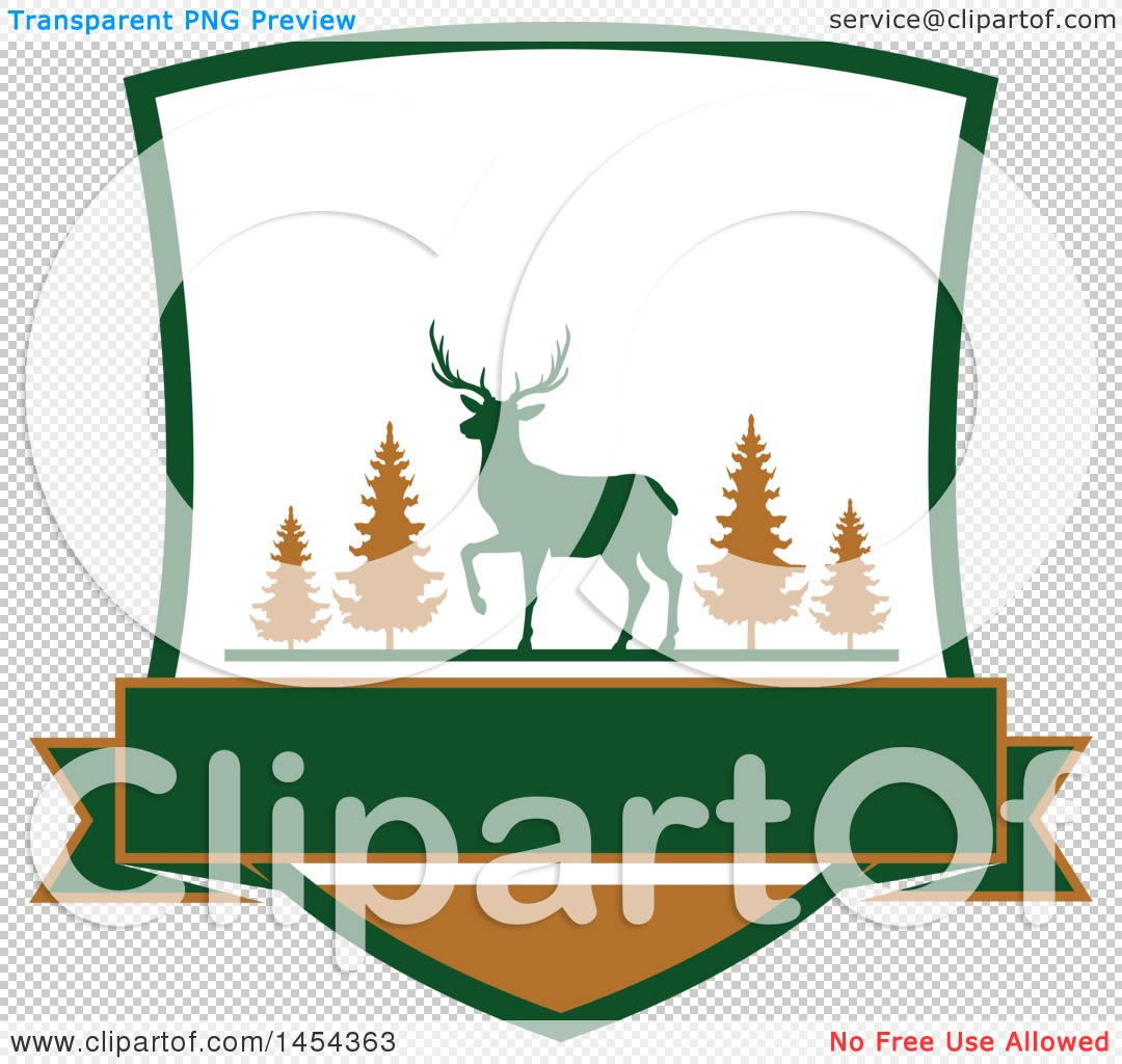 1080x1024 Clipart Graphic Of A Deer Hunting Shield