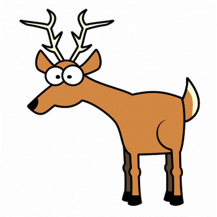 900x900 Deer Clipart Images Black And White