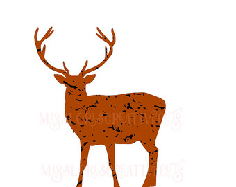340x270 Alabama Deer Hunting Buck Svg File Cutting Template Clip Art
