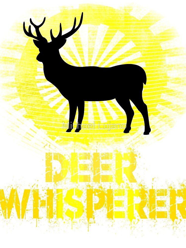 750x1000 Awesome Distressed Hunting Themed Deer Whisperer T Shirt Graphic
