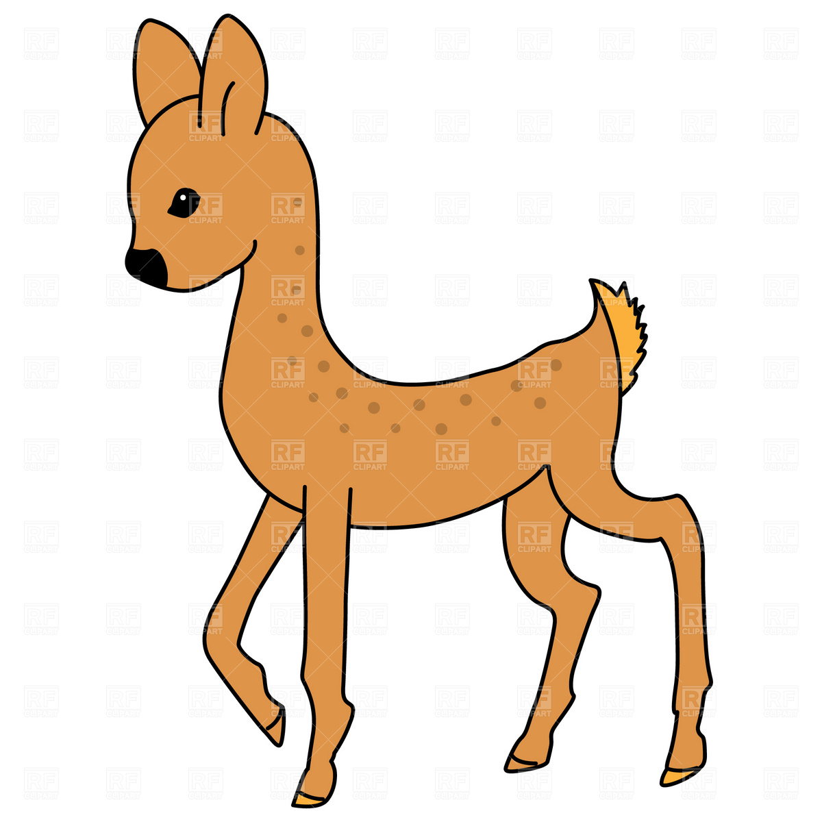 1200x1200 Clip Art Clip Art Of A Deer