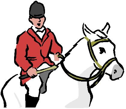 420x365 Fox Hunting Clipart