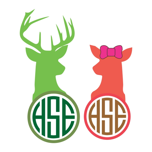 600x600 Hunter Green Buck Clipart Collection