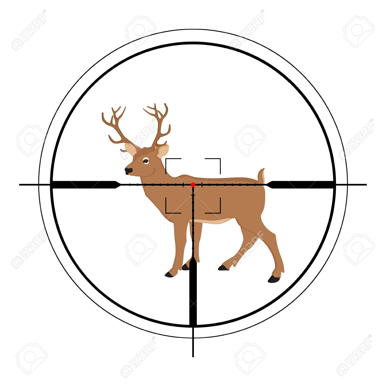 1300x1300 Hunting Clipart Crosshairs