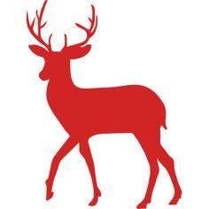 236x236 Stag Silhouette Deer Christmas Clip Art. Antlers, Skull, Bambi