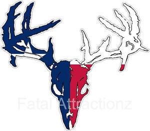 300x263 Texas Flag Zombie Deer Skull Vinyl Sticker Decal Buck Hunting Tx