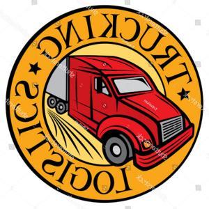 300x300 Trucking Logistics Symbol Emblem Design Badge Geekchicpro