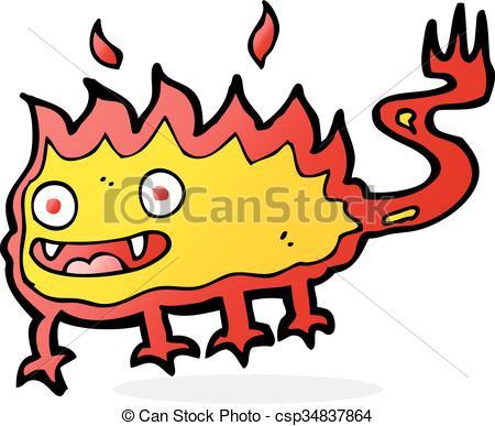 450x387 Cartoon Little Fire Demon Clip Art Vector