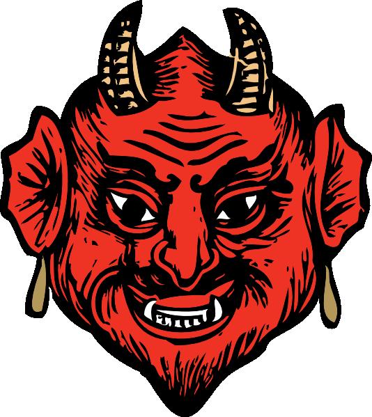 534x599 Devil Head Clip Art Free Vector 4vector