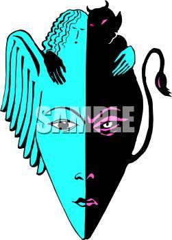 251x350 Angel Demon Mask
