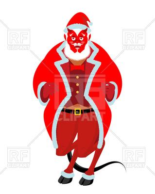 319x400 Krampus Christmas Demon Royalty Free Vector Clip Art Image