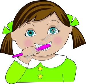 300x294 Brushing Teeth Clipart Free