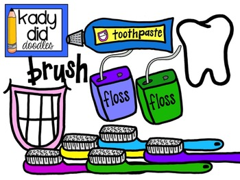 350x263 Dental Health Clipart {Kady Did Doodles} By Kady Did Doodles Tpt