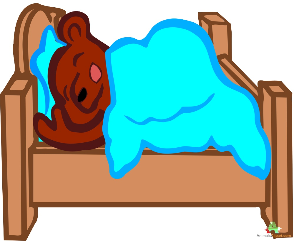 999x821 Sleeping Bear In Bed Clipart Free Design Download