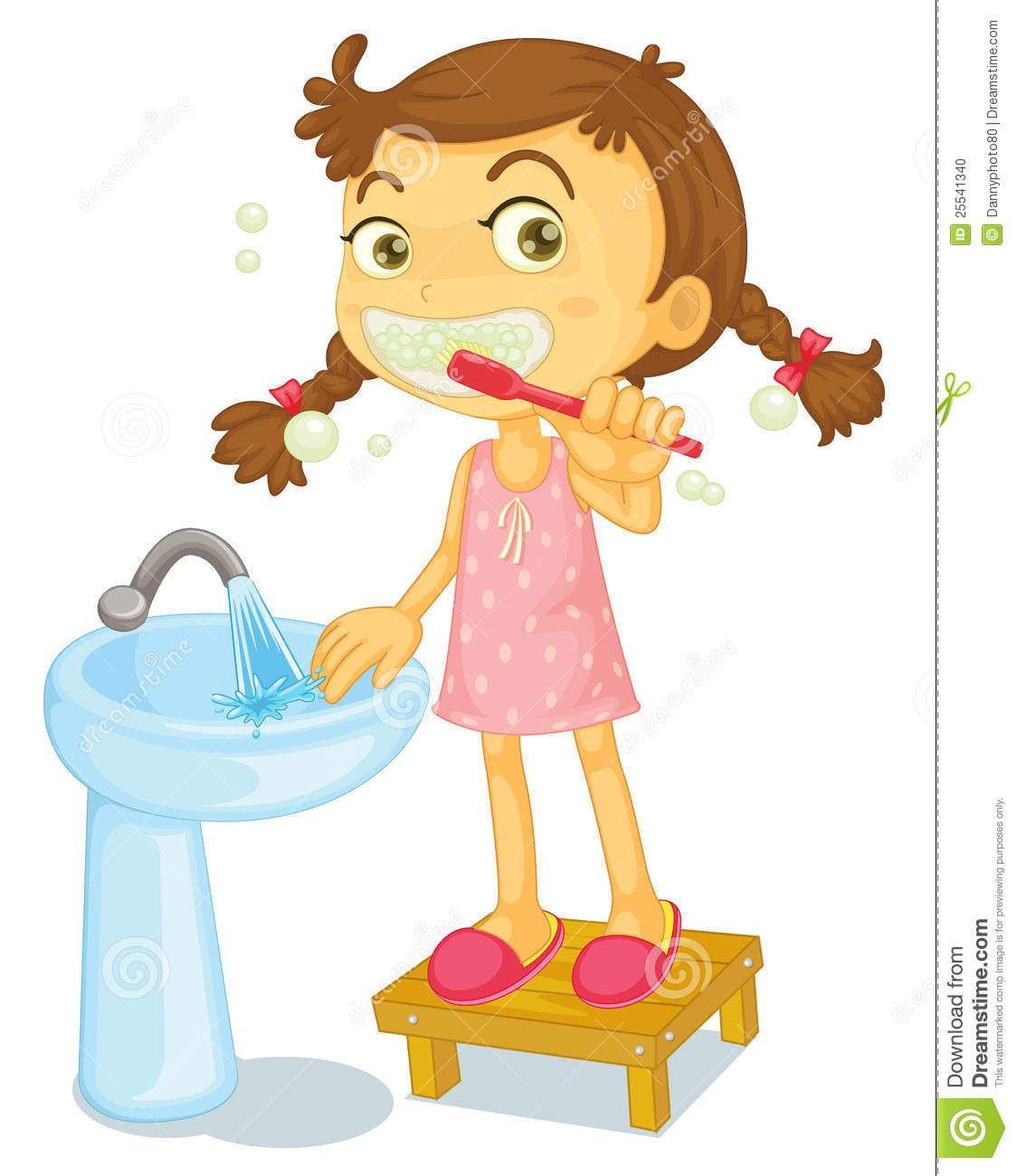 1124x1300 Girl Brush Teeth Clipart