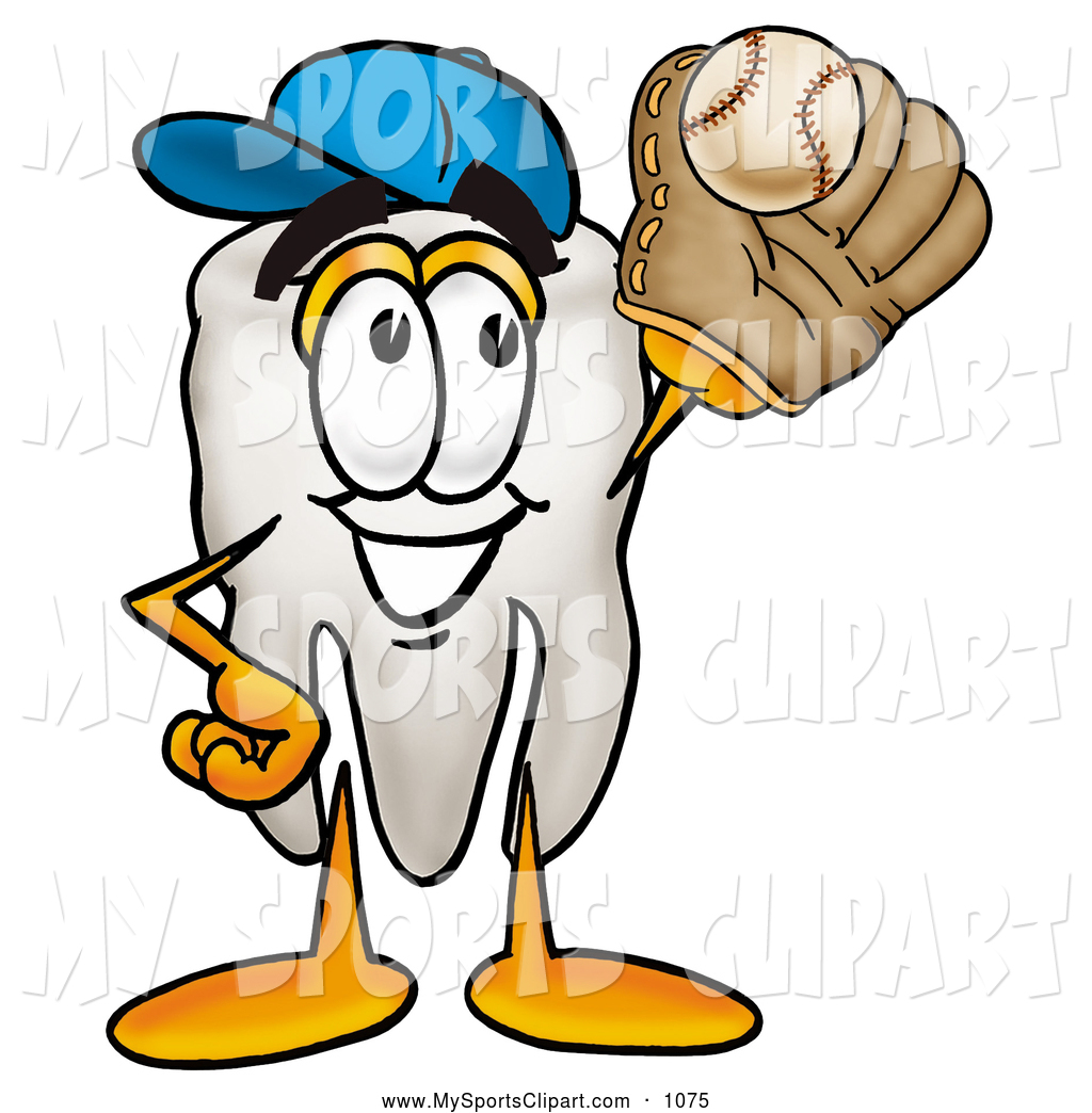 1024x1044 Sports Clip Art Of A Grinning Tooth Mascot Cartoon Character