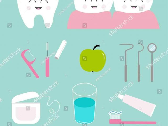 640x480 Stock Vector Cartoon Dental Hygienist Clipart Tools Mouth Oral
