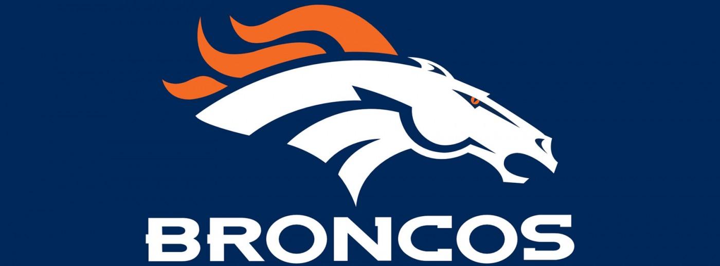 1400x518 Denver Broncos Horse Clipart