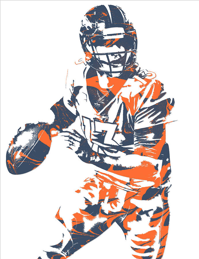 692x900 Trevor Siemian Denver Broncos Pixel Art 5 Mixed Media By Joe Hamilton