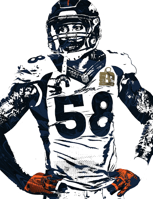 538x700 Von Miller Denver Broncos Pixel Art 2 Duvet Cover For Sale By Joe