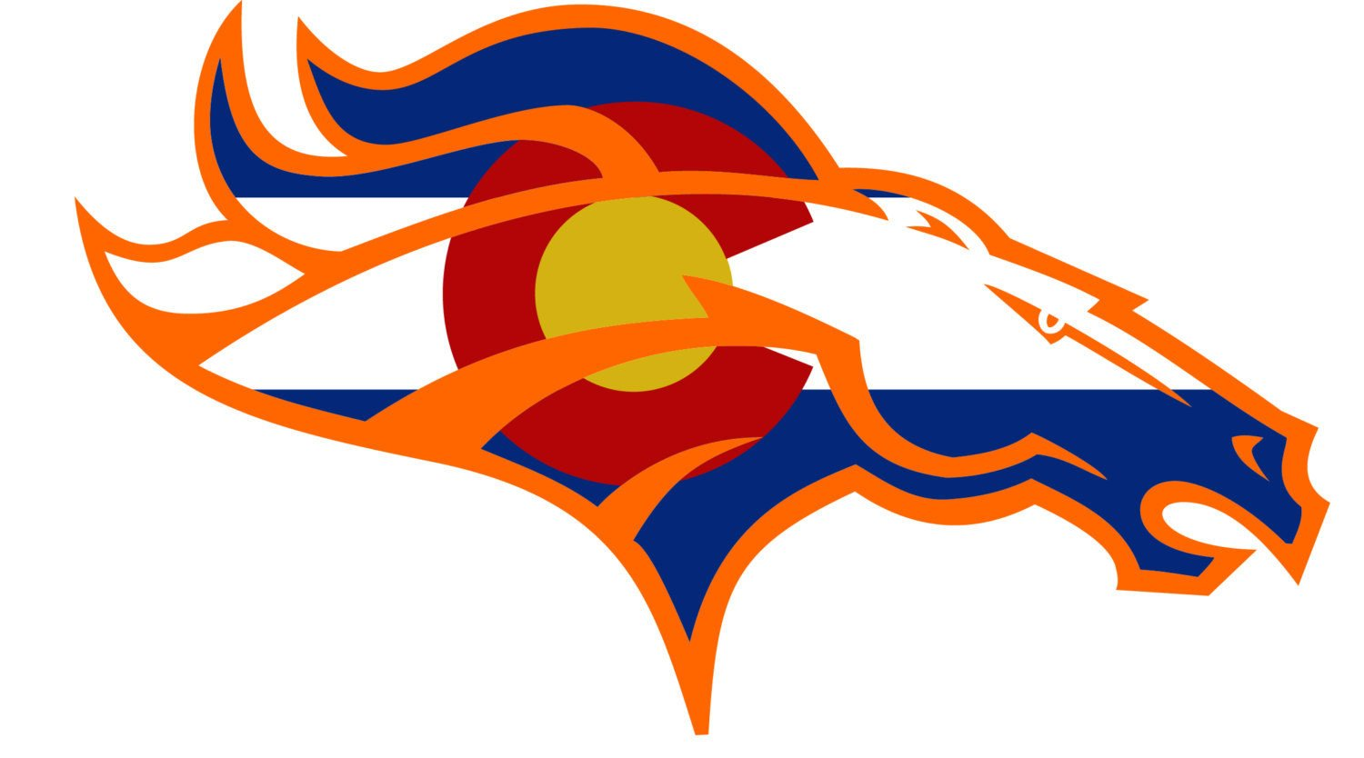 1500x834 Colorado State Flag Broncos