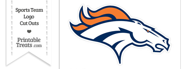 610x229 Large Denver Broncos Logo Cut Out Printable