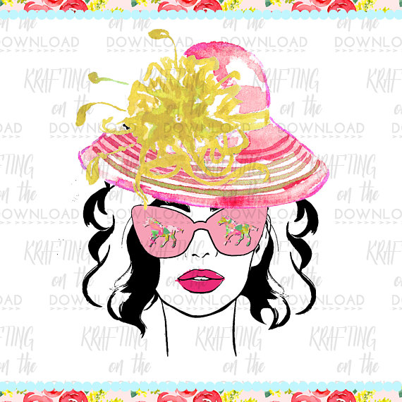 570x570 Derby Planner Girl Clipart Png File Derby Fashion Clip Art Set