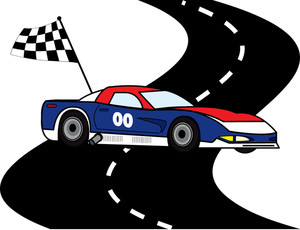 300x230 Cartoon Race Track Clip Art