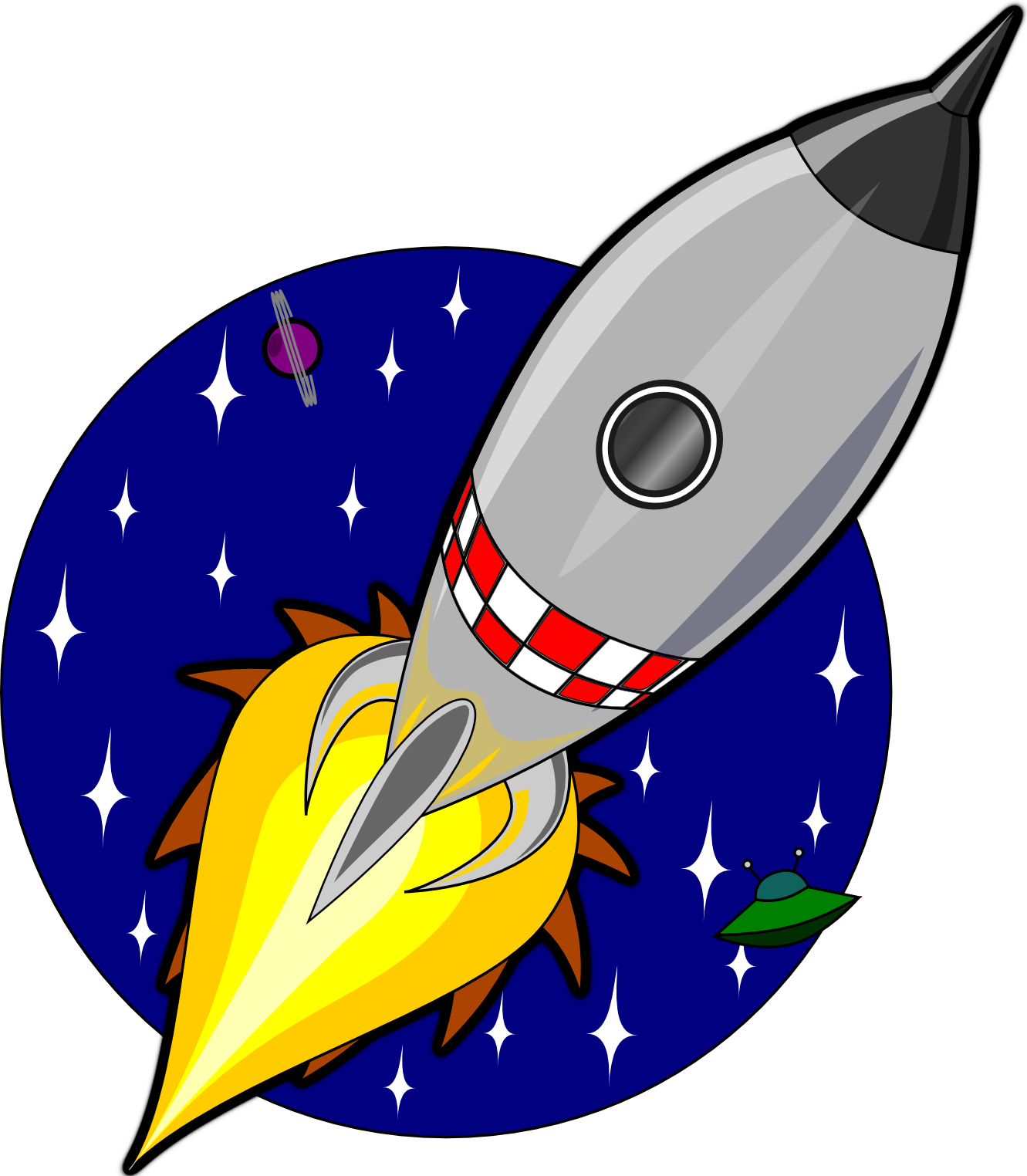 1331x1524 Cartoon Rocket