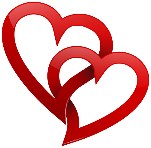 500x489 Two Red Hearts Png Clipart Valentine