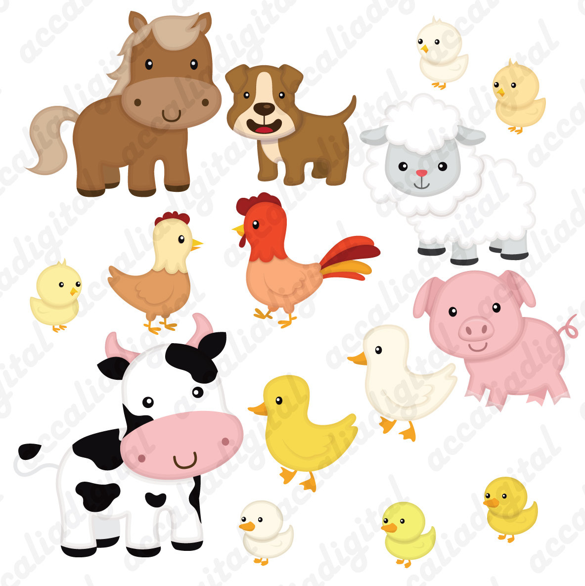 1183x1185 Farm Animal Clipart, Animal Friends, Animal Buddy, Animal Friends