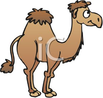 350x333 Picture Of A Brown Camel With One Hump In A Vector Clip Art
