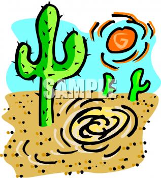 317x350 Desert Sun Clip Art 7743910