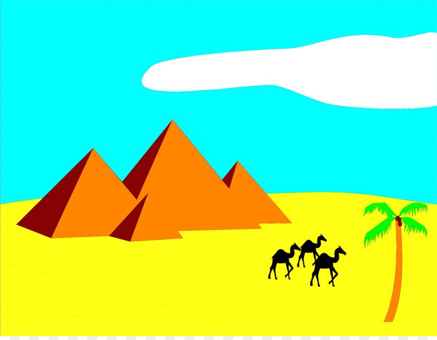 900x700 Sahara Egyptian Pyramids Camel Desert Clip Art