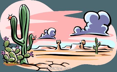 480x296 Desert Landscape Royalty Free Vector Clip Art Illustration