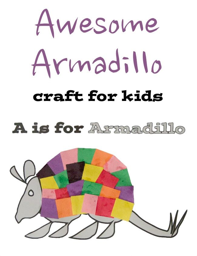 650x842 A Is For Armadillo Printable Craft For Kids Printable Crafts