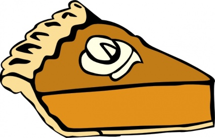 425x274 Desert Clipart Thanksgiving Pie