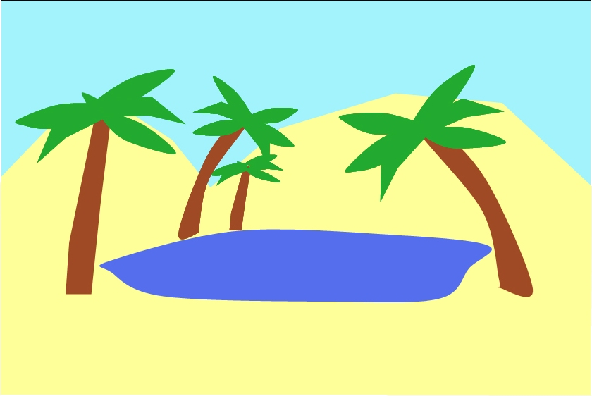 840x562 In The Desert Clipart Oasis