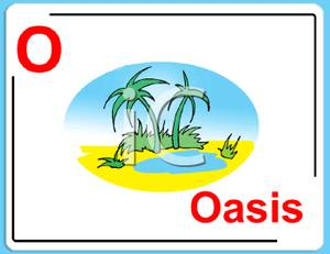 300x231 O Is For Oasis Alphabet Card