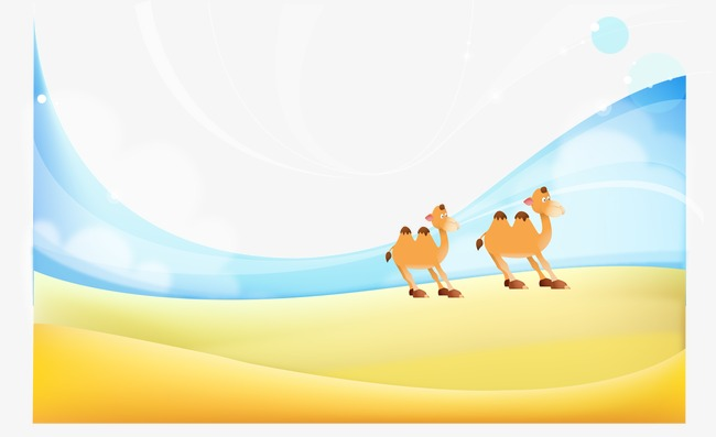 650x397 Vector Desert Oasis, Desert, Camel, Yellow Png And Vector For Free