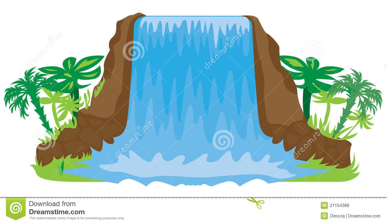 1300x752 Cartoon Waterfall Clipart