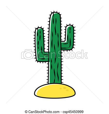 450x470 Cactus Isolated On White Background. Cactus, Desert Plant, Eps