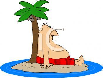 350x263 Fat Man Stranded On A Desert Island