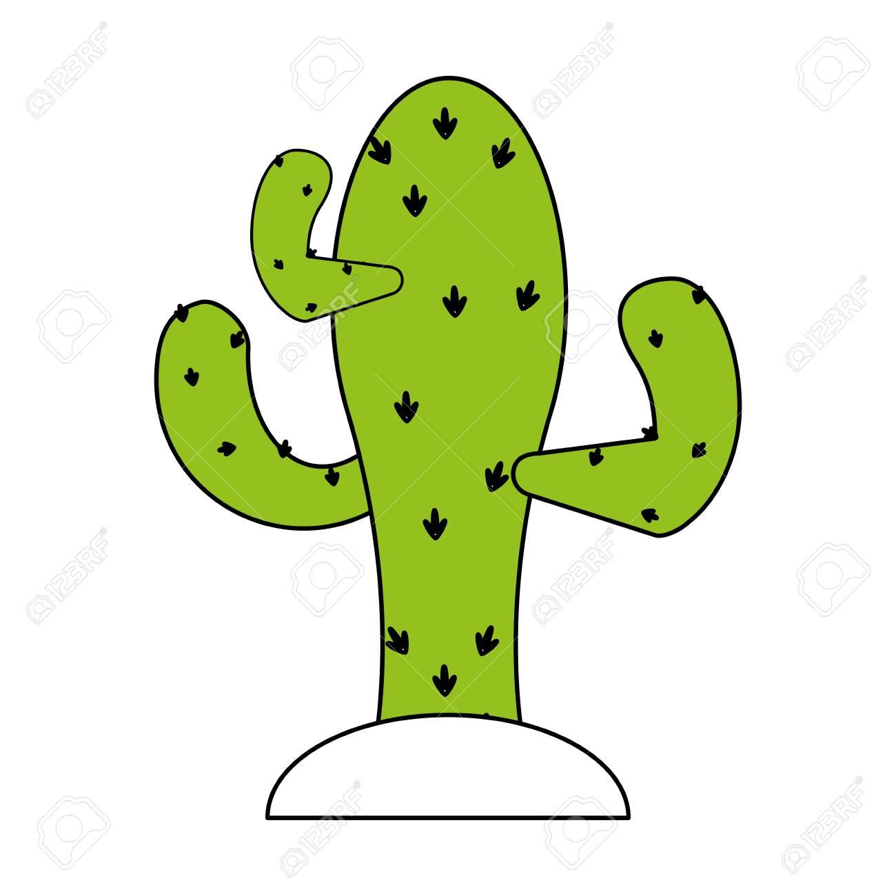1300x1300 Brilliant Design Cactus Pictures In Desert Clipart Vector Clip Art