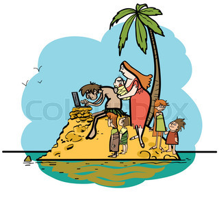 320x320 Desert Island Stock Vector Colourbox