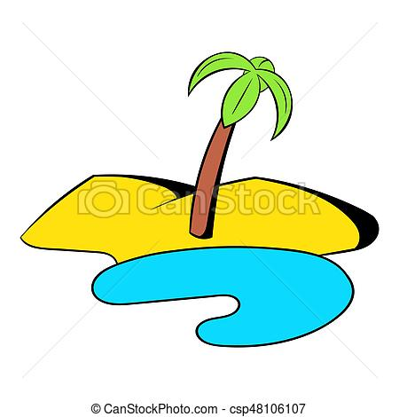 450x470 Oasis In The Desert Icon Cartoon. Oasis In The Desert Icon