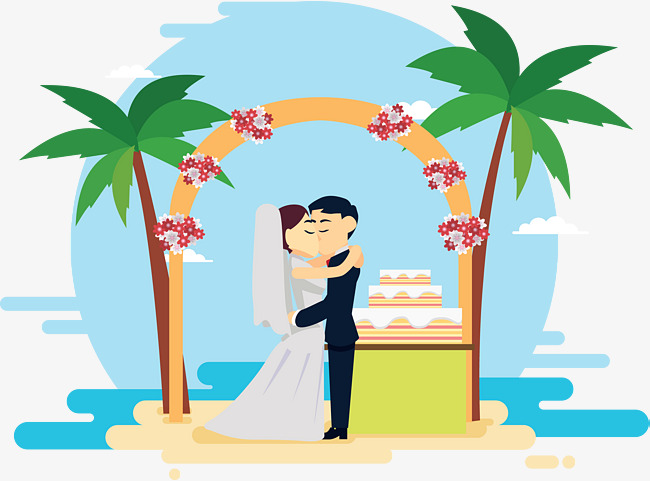 650x481 Wedding Scene, Coconut Tree, Beach, Desert Png And Vector For Free